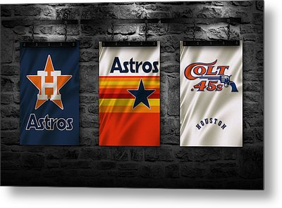 Houston Astros Metal Print by Joe Hamilton