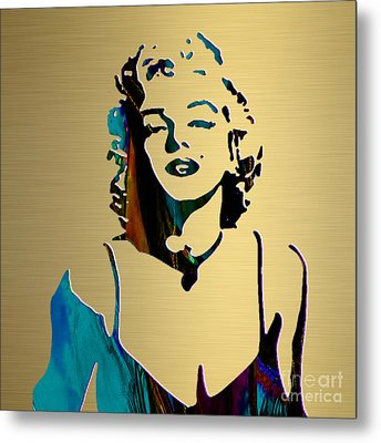 Marilyn Monroe Gold Series Metal Print