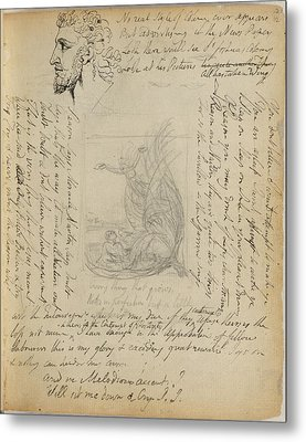 Notebook Of William Blake Metal Print by British Library