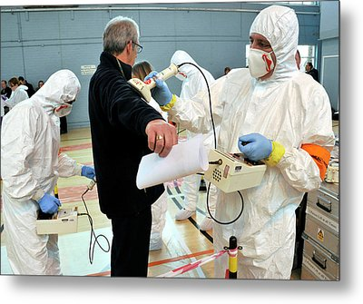 Radiation Emergency Response Training Metal Print