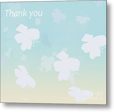 Thank You Metal Print by Trilby Cole