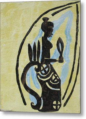 The Wise Virgin Metal Print by Gloria Ssali