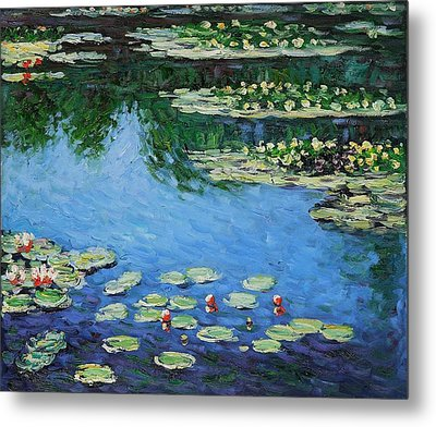 Metal Print featuring the painting Water Lilies  by Claude Monet