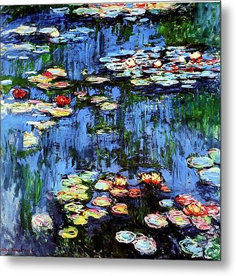 Metal Print featuring the painting Waterlilies  by Claude Monet