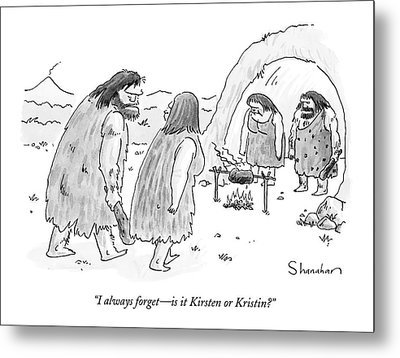 I Always Forget - Is It Kirsten Or Kristin? Metal Print by Danny Shanahan