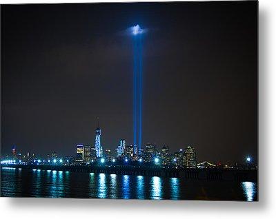 911 Tribute In Lights Metal Print by Douglas Adams