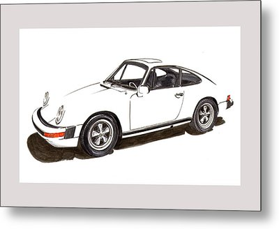 911 White On White 1978 Porsche Metal Print by Jack Pumphrey