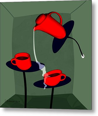 950 - Coffee  Perverse Metal Print by Irmgard Schoendorf Welch