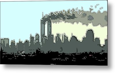 9am Outlined Metal Print by James Kosior