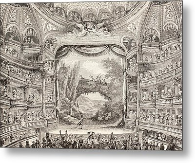 A 1789 Performance In The Theatre Des Varietes Amusantes Metal Print by French School