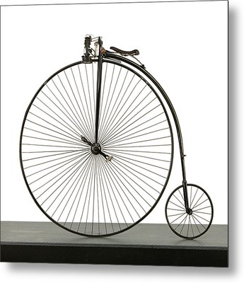 A 52 Inch Ordinary Bicycle, Cerca 1880 Metal Print by Panoramic Images