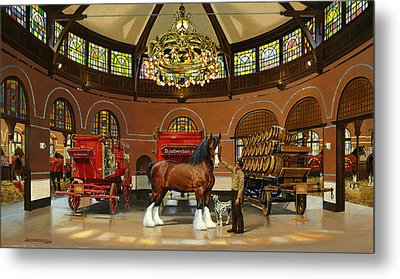 St. Louis Clydesdale Stables Metal Print