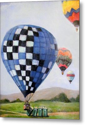 A Balloon Disaster Metal Print by Donna Tucker