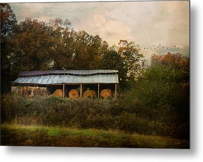 A Barn For The Hay Metal Print by Jai Johnson