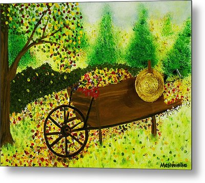 Metal Print featuring the painting A Barrel Full Of Fun by Celeste Manning