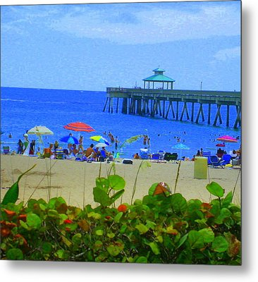 Metal Print featuring the photograph A Beach Day by Artists With Autism Inc