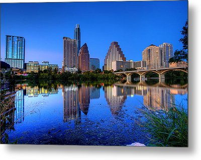 Metal Print featuring the photograph A Beautiful Austin Evening by Dave Files