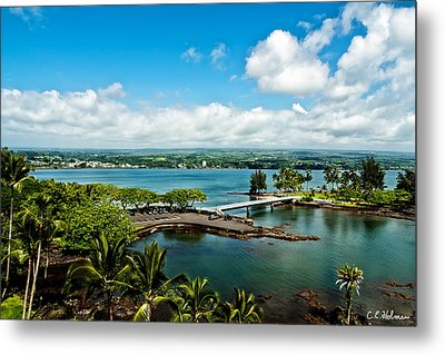 A Beautiful Day Over Hilo Bay Metal Print by Christopher Holmes
