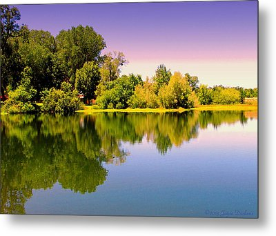 A Beautiful Day Reflected Metal Print by Joyce Dickens