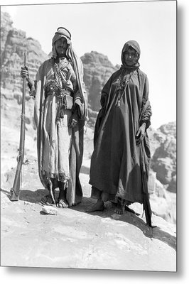 A Bedouin And His Wife Metal Print by Underwood Archives