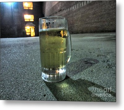 A Beer Mug In An Alley  Metal Print