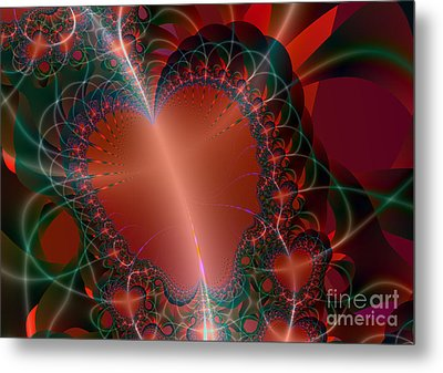 Metal Print featuring the digital art A Big Heart by Ester  Rogers