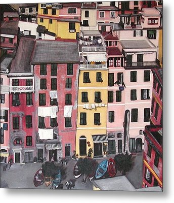 A Bird's Eye View Of Cinque Terre Metal Print by Quin Sweetman