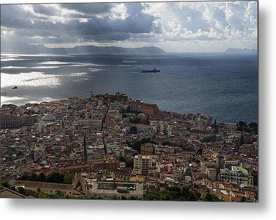 A Bird's-eye View Of Naples Italy Metal Print