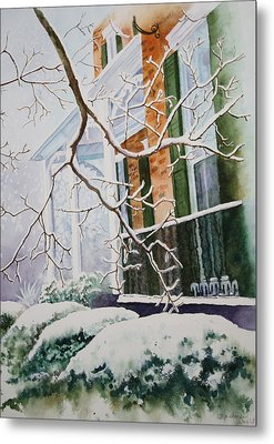 A Blanket Of Snow Metal Print by Patsy Sharpe