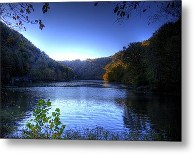 A Blue Lake In The Woods Metal Print