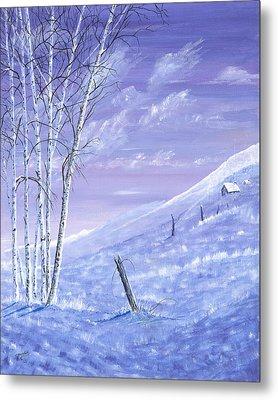 A Blue Winter Metal Print by Carl Genovese