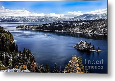 A Bluebird Day At Emerald Bay Metal Print