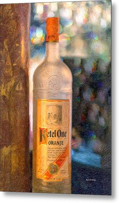 A Bottle Of Ketel One Metal Print by Angela A Stanton