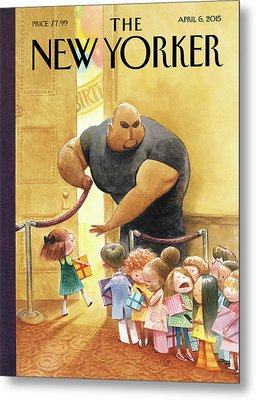 A Bouncer Lets Children Into An Exclusive Metal Print