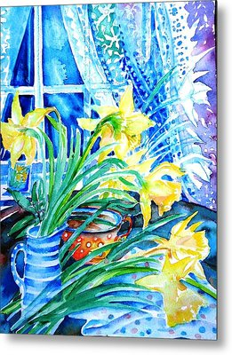 A Bouquet Of April Daffodils  Metal Print by Trudi Doyle