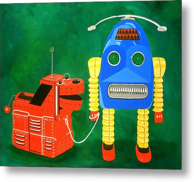 A Boy And His Dog Metal Print by Karyn Robinson