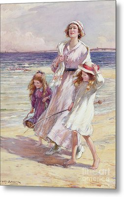 A Breezy Day At The Seaside Metal Print by William Kay Blacklock