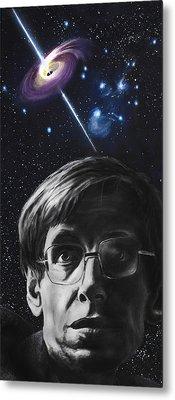 A Brief History Of Time- Stephen Hawking Metal Print by Simon Kregar