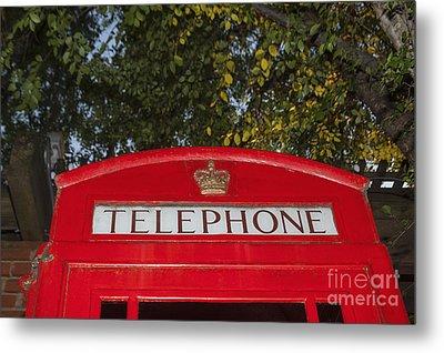 A British Phone Box Metal Print
