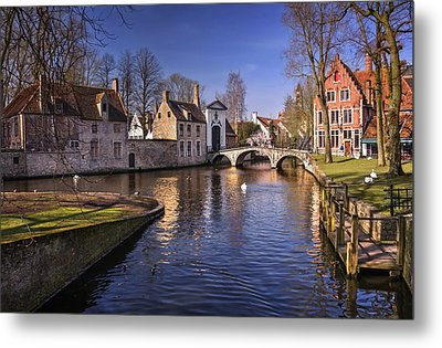 Blue Bruges Metal Print by Carol Japp
