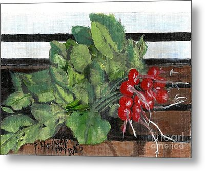 A Bunch Of Radishes  Metal Print