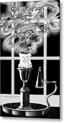 Metal Print featuring the digital art A Candle Snuffed by Carol Jacobs