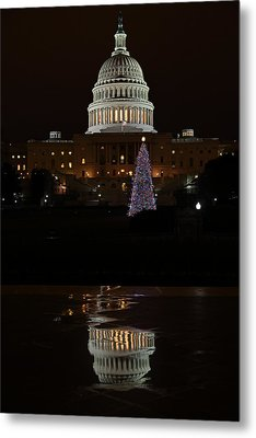 A Capitol Reflection Metal Print
