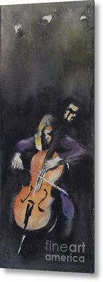 A Cellist Metal Print by Yoshiko Mishina