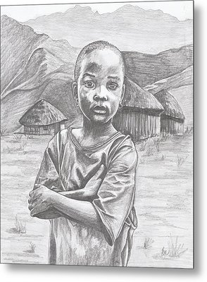 A Child Of Africa Metal Print
