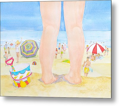 A Child Remembers The Beach Metal Print by Michele Myers