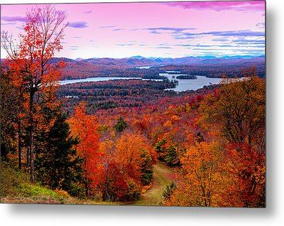 A Chilly Autumn Day On Mccauley Mountain Metal Print