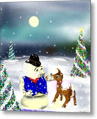 A Christmas Night Metal Print by Lori  Lovetere