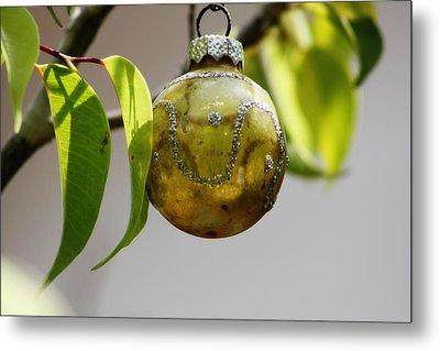 A Christmas Ornament Any Tree Metal Print by Carolina Liechtenstein
