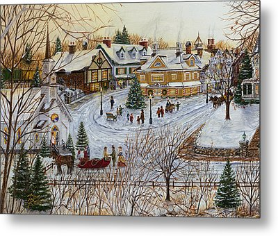A Christmas Village Metal Print by Doug Kreuger